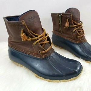 Sperry Topsider Rubber Duck Rain Boots Size 6